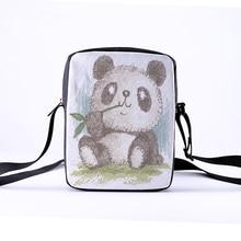 CROWDALE mujeres Crossbody Bolsos Panda impresión para niños Casual Mini niños femeninos Bolsos Mujer 23x17x5 cm