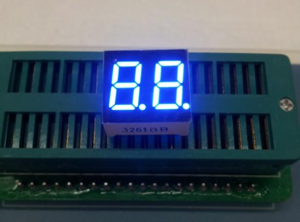 Free Ship 100pc Common cathode/Common anode 0.36inch digital tube 2 bit digital tube display best digital tube blue