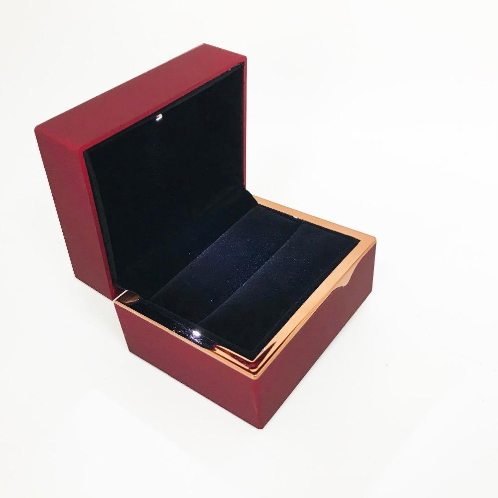Propose Wedding Ring White LED light Jewelry Box with LOGO
