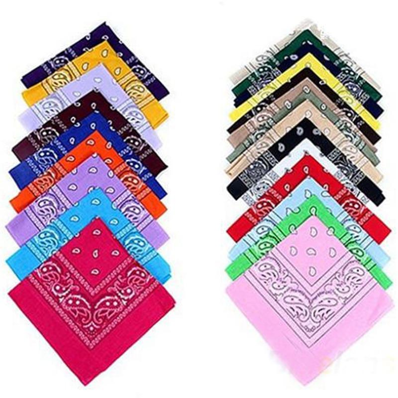 New Hip-Hop Cotton Blended Bandanas For Men Women Magic Head Scarf Scarves Cc0150
