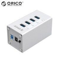 ORICO A3H4 SV Aluminum 4 Ports USB 3 0 HUB With 12V 2 5A Power Supply