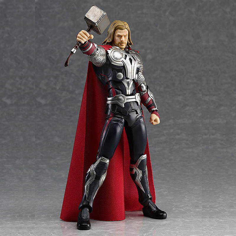 Elsadou Marvel The Avengers Thor 7'' PVC Action Figure Removable Model Collection Doll Toy Gift Boy free shipping 10 the avengers super hero hulk bag packed 26cm pvc action figure collection model doll toys gift 2 color