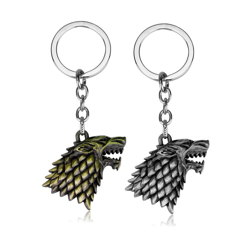 Movie Series Game Of Thrones Keychain Hot Sale The Song Of Ice and Fire Targaryen Dragon Badges for Men women Car Keyring Gifts in Key Chains from Jewelry Accessories