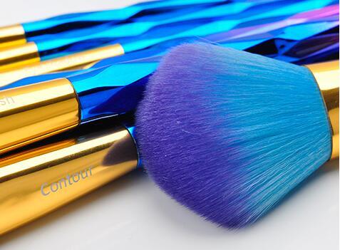 10 se Meerjungfrau Foundation Make-Up Pinsel Fisch Geformt Blending Rouge