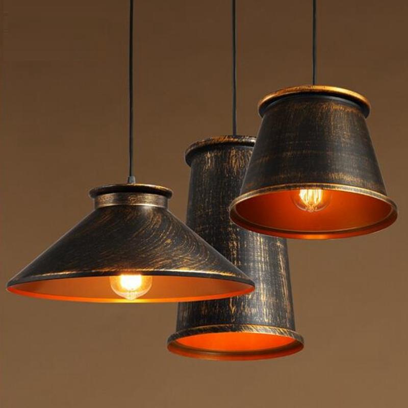 lukloy luces pendientes lmpara de sombra vintage retro industrial cocina lmpara de techo de luz