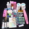 UV Gel Acrylic Glitter Powder Glue French Brush Nail Sticker Nail Art Tips Kit Set