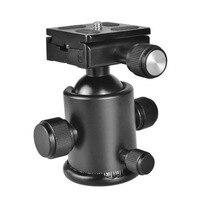 Aluminum Professional Camera Ball Head Tripod Loading Weight 12kg For ARCA Standard Manfrotto Canon Nikon Sony Fujifilm DSLR