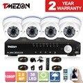 Tmezon ahd dvr 4ch sistema de vigilância de segurança 4 pcs 1080 p 2.0mp câmera 2.8-12mm lente zoom cctv conjunto ao ar livre à prova d' água 1 tb 2 tb