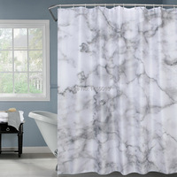 Fabric Polyester Marble Stripes Waterproof Shower Curtains Thicken Fabric Bathroom Shower Curtains 180x180cm
