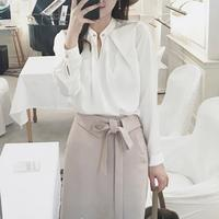Brand Fashion Women S High End Luxury Wild Pearl Temperament Long Sleeved Sweet Shirts