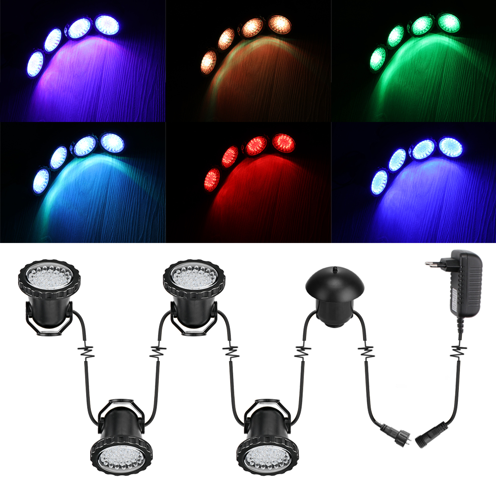 4PCS set RGB Garden spot light 10W IP65 outdoor garden led spot light 110V 220V led
