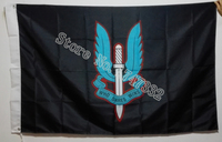 Special Air Service Black Flag Who Dares Wins 3X5FT 150X90CM Custome Flag Banner Brass Metal Holes