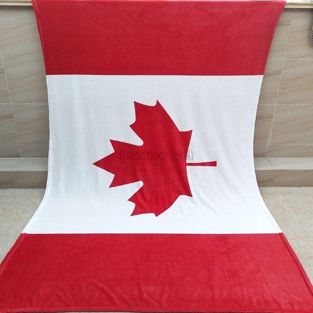 canada flag american flag united kingdom flag coral fleece blanket