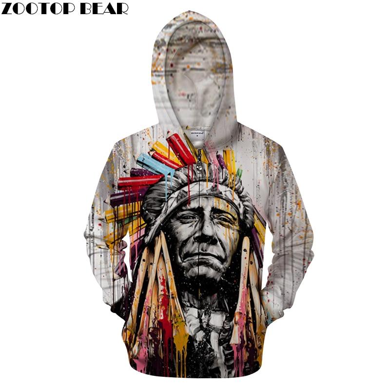 Sweat-shirt natif impression 3D sweat-shirts à capuche survêtement pull décontracté hommes femmes haut d'automne Streetwear marque livraison directe ZOOTOP ours