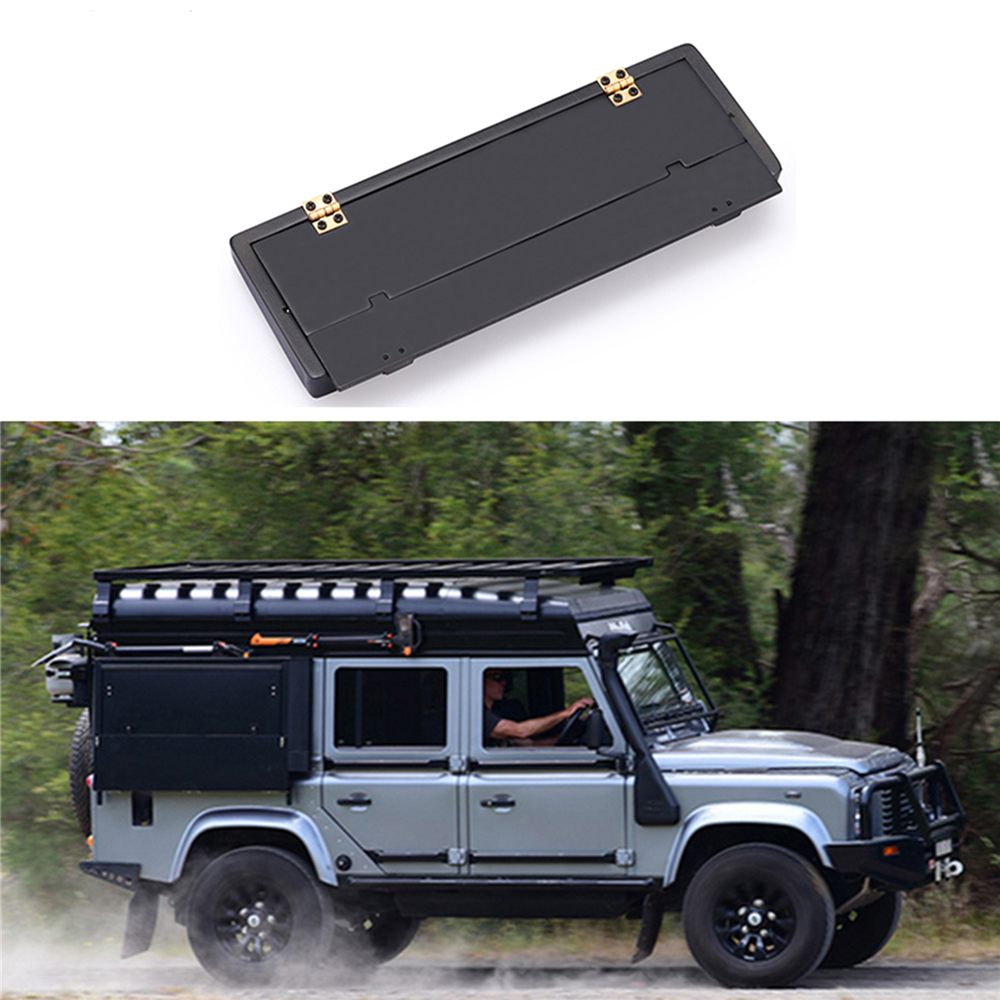 RC Car Openable Tool Box For TRAXXAS TRX4 D90 D110 Land Rover Defender 90046 RC Car Decoration Parts With Metal Division Board