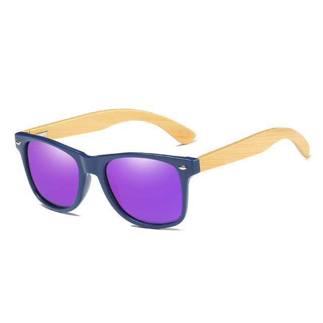 EZREAL Wood Sunglasses Men Women Square Bamboo Women For Polarized Mirror Sun Glasses Oculos de sol Masculino Handmade With case
