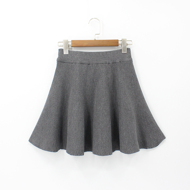 b17a2f6bc000d 2018 Women Mini Skirt Tutu Sexy Female Ruffle Cute Knitted Skirts Wool Plus  Size Elasticity High