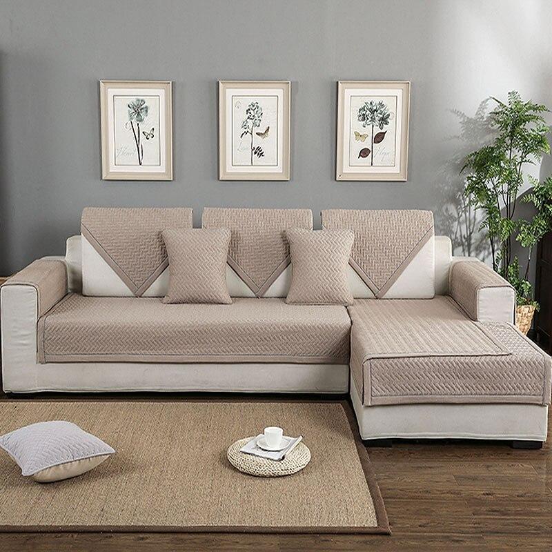 Sofa Mats Cotton Non Slip Sofa Cover Multi Size Sofa Cover