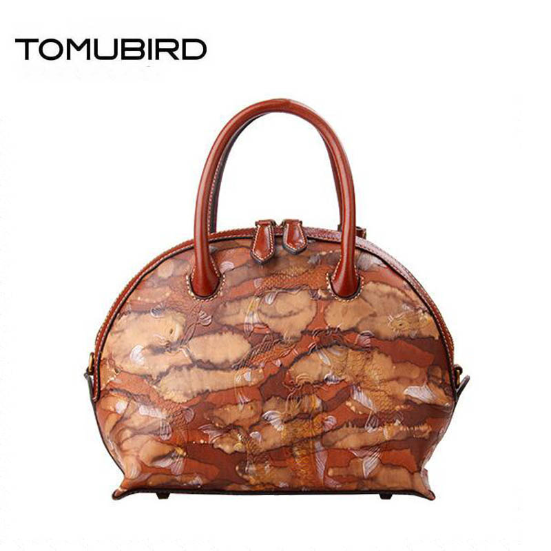 TOMUBIRD 2019 new Superior cowhide luxury fashion Embossed handbags women bags designer women genuine leather handbags tote bag