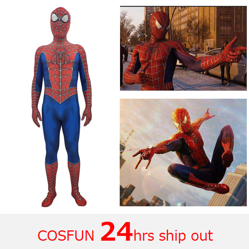 Avengers Raimi Spiderman spiderman homecoming spiderman PS4 spiderman zentai for Halloween cosplay costume for kid and adult