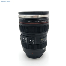 Sweettreats New SLR Camera Lens Cup 24-105mm 1:1 Scale Plastic Coffee Tea Cup MUG 400ML Creative Cups And Mugs With Lid