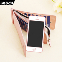 For Xiaomi Redmi 4 For Iphone 4 4s 5 5s 6 6s Cover Leather Ladies Wallet