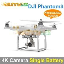 DJI Phantom3 Cuatro ejes Quadcopter Flyer 4 K Cámara De Alta Definición Versión Profesional con Una Sola Batería