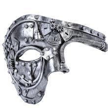 Nueva llegada máscara de disfraz Vintage Steampunk media cara Halloween máscara para fiesta de Mascarada