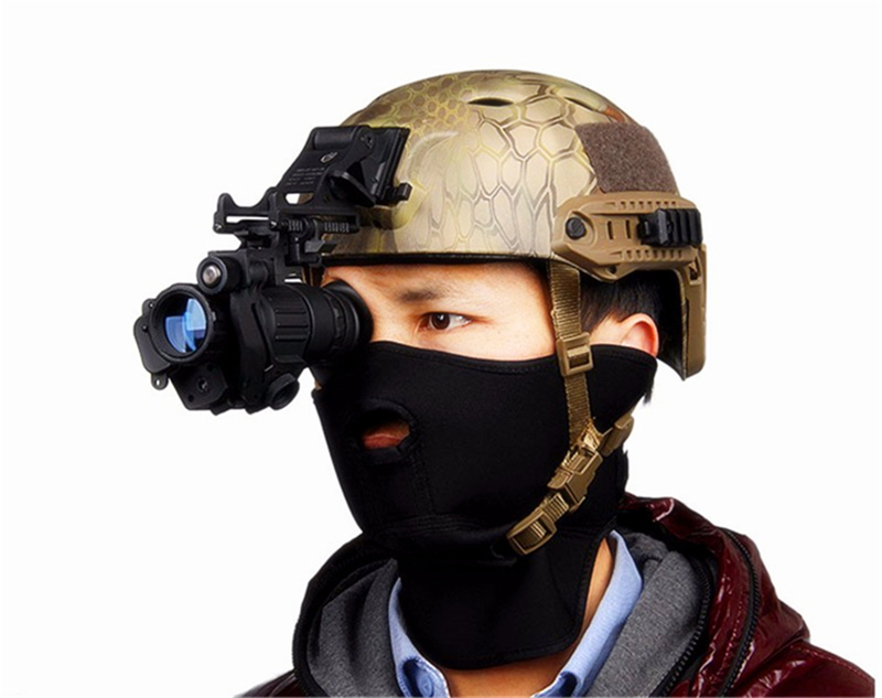 Pvs-14 Tactical Hunting Night-Vision IR Monocular Powerful HD Digital Infrared Night Vision Device For Helmet airsoft tactical mich m88 fast helmet mount kit for rhino nvg pvs 14 pvs 7 night vision helmet accessories