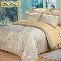 SILK PLACE Moscow Delivery Flowers Bedclothes Bedding Kit Best Cotton Duvet Quilt Covers Bed Sheet Coverlet