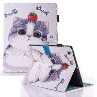 Para case apple ipad 2 ipad 3 ipad 4 lindo regalo de los cabritos animal prints cuero de la pu tpu case cubierta del soporte del tirón cubierta kids para ipad 2/3/4