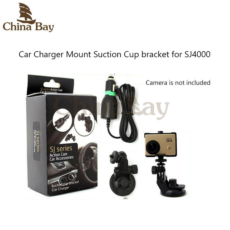 Vantuz braketi ile Spor Kamera Araç Şarj SJ serisi Eylem Kam Caemera SJ1000, SJ2000 / 3000, SJ4000 Montaj Aksesuarları
