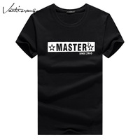 Men Spring T-Shirt  Casual O-Neck MASTER Printed Plus Size 5XL 5 Colors Short Sleeve Tops Tees T-shirts Man JYY0069