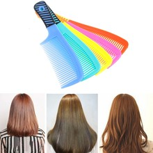 Wide-tooth Shower Comb Handle Plastic Wet Haircut Hairdressing Hairstyle Tool(China)