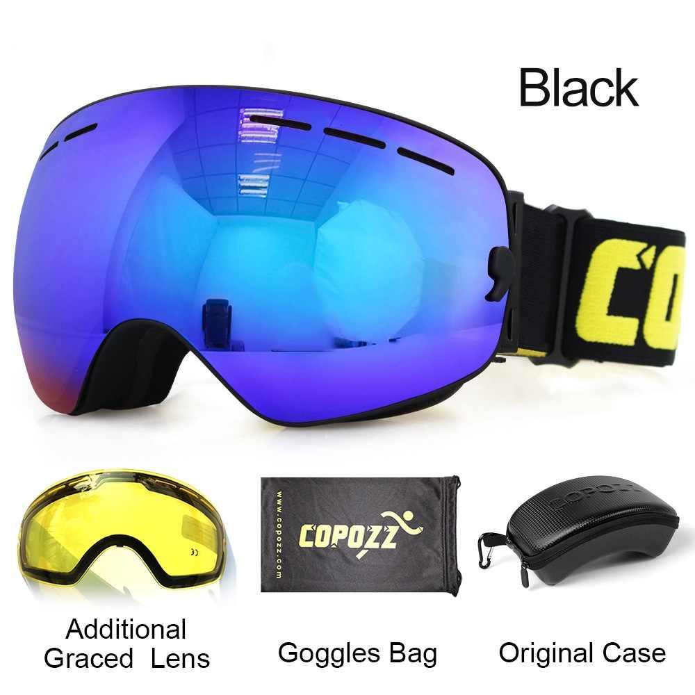 458627780603 ... COPOZZ лыжные очки с чехол и желтые линзы UV400 Анти-туман сферические  лыжные очки на ...