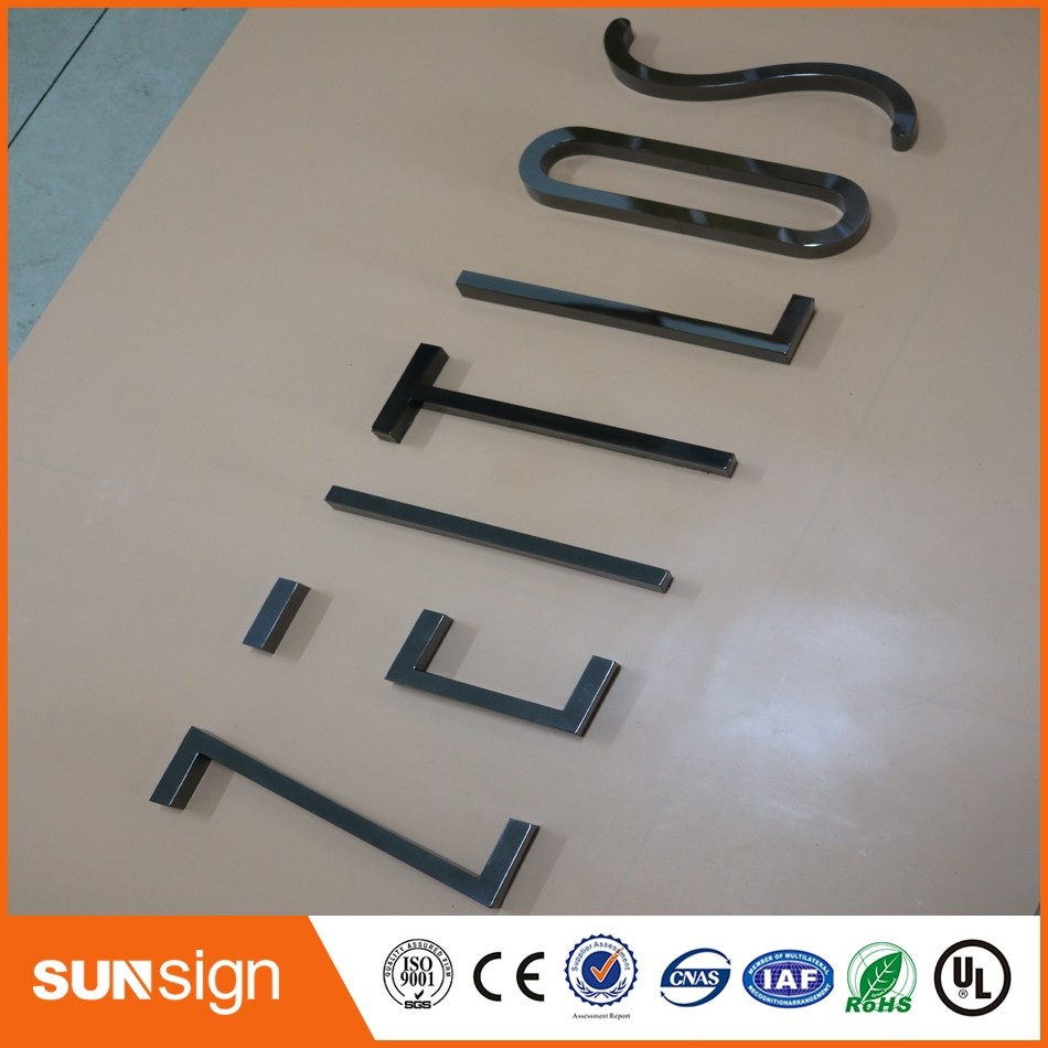 Custom Chrome Metal Letters Sign Advertising 3d Mirror Stainless Steel Sign Letters