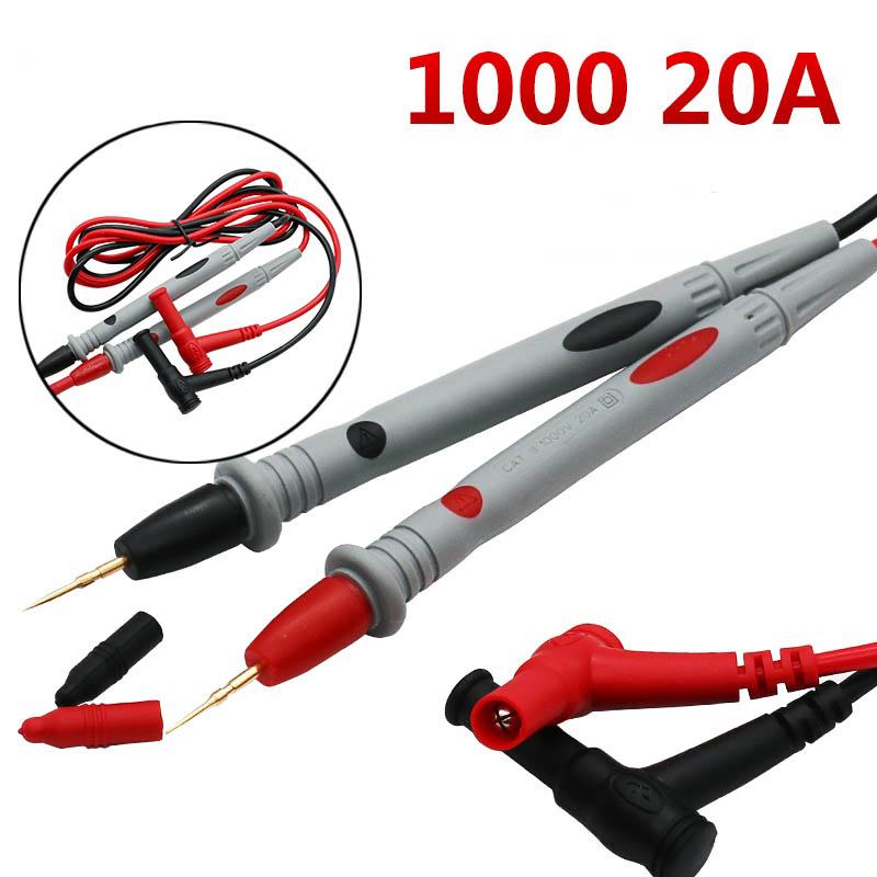 ЖК-цифровой мультиметр AC DC 750 1000 в цифровой мини-мультиметр зонд для Вольтметр Амперметр Ом тестер метр - Цвет: 20A 2pcs