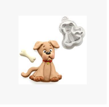 路友3D狗巧克力制作硅胶软糖模具动物派对蛋糕装饰工具肥皂蜡烛蛋糕模具FM1452床制作工具
