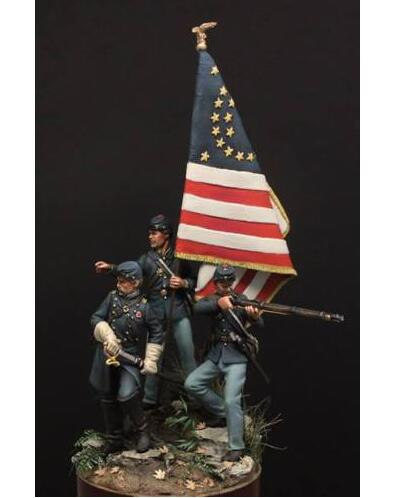 1/32 54MM Maine  Include 3 Men 54mm    Toy Resin Model Miniature Resin Figure Unassembly Unpainted