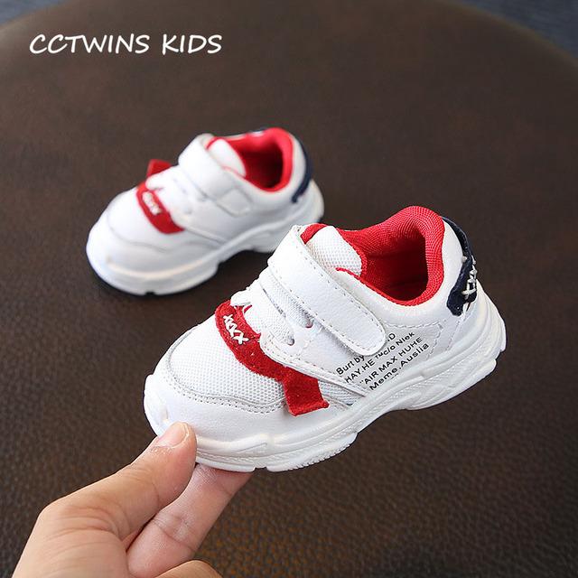 CCTWINS KIDS 2018 Autumn Baby Boy Brand Sport Sneaker Children Genuine Leather First Walker Girl Fashion Casual Shoe FW116