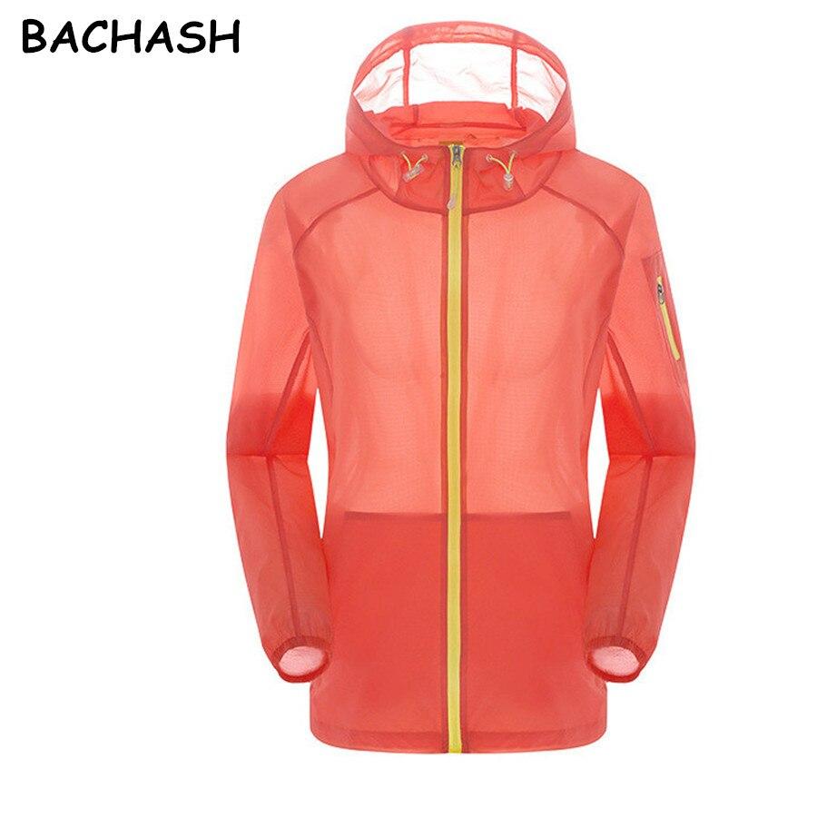Bachash chaqueta mujeres de la capa de los hombres de protección solar del veran