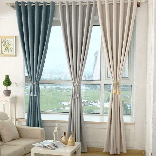 decoratie gordijnen voor woonkamer slaapkamer kinderen gordijnen blackout linnen rideaux cortinas romeinse moderne luxe gordijnen