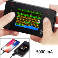 Retro Game Power Bank Handheld Game Console Built In 188 Classic FC Games 5000mAh Portable Mobile Power For iPhone 2.5' Screen