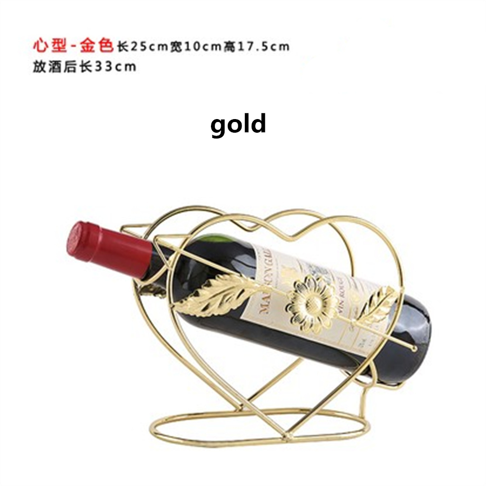 Personalized Creative Wine Rack Heart Shape Wine Holder Bottle Racks Home Office Decoration Desk Sets wine cask shape automatic plastic toothpick holder black