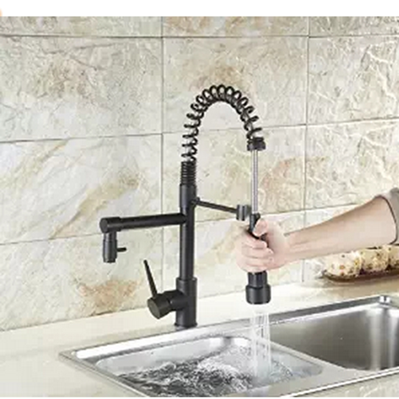 ФОТО Oil Rubbed Bronze Spring Kitchen Faucet Deck Mount Spring Vessel Sink Mixer Tap