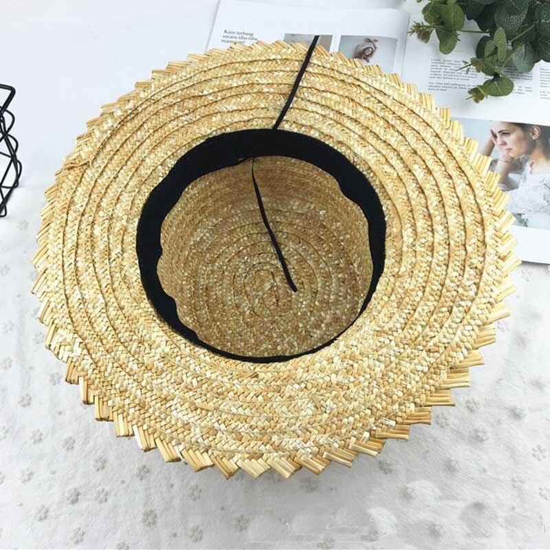 7 см широкоугольная Кепка с лентами, круглый плоский Топ, соломенные шляпы, Солнцезащитная пляжная шляпа, летняя женская шляпа Кентукки Дерб...