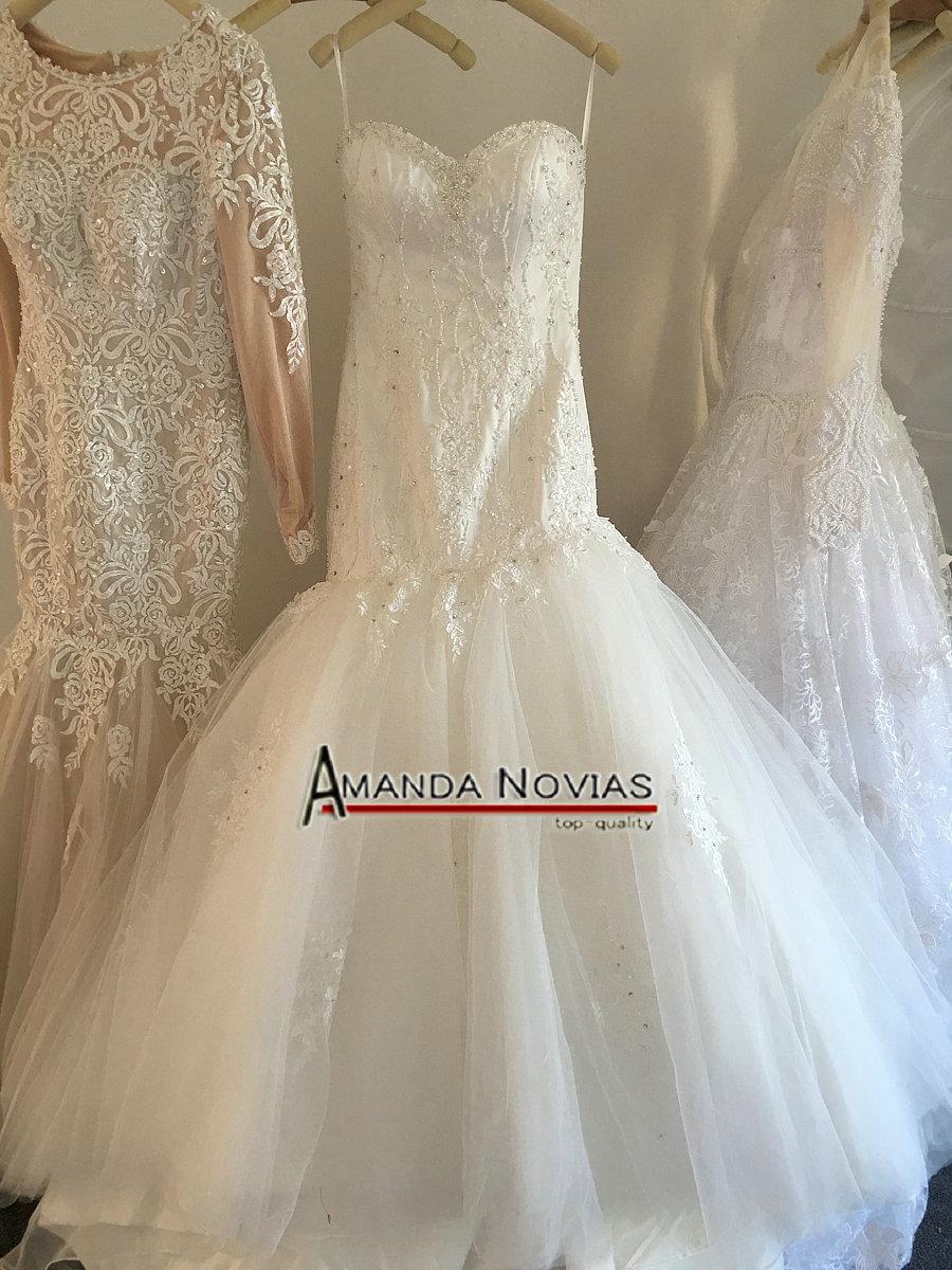 Custom Made Beading Mermaid Wedding Dress