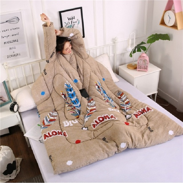 Full Body Blanket with Sleeves