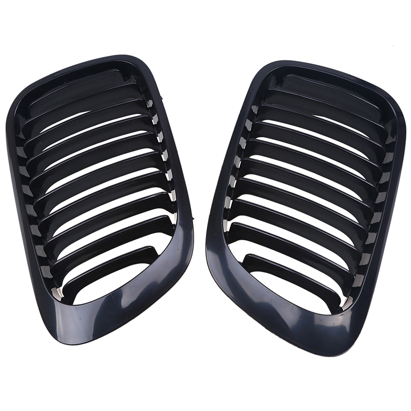 Sport Front Kidney Grills Grille For BMW 3-Series E46 Coupe 1999-2003 Pre-facelift 2Door Gloss Black Pre-Facelift Car Styling