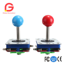 2 pcs Game machine spare parts double plug  joystick crystal ball pink yellow green blue